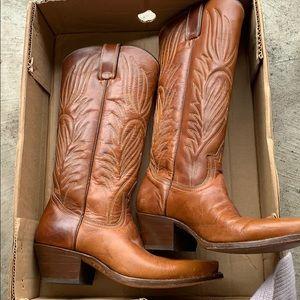 Steve Madden lone star camel leather boot